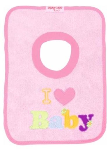 Sevi Bebe Sevi Bebe Yakalı Havlu Önlük   Pembe